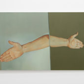 Outstretched Hand, 1991 acrylic on canvas, 42 x 68 inches