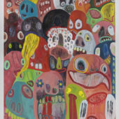 Claw Machine, 2018, Oil, pigment and rabbit skin glue on canvas, 76x60 inch (193x152 cm)