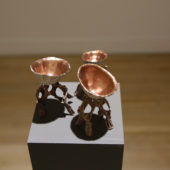 Now and Then, Shell, Copper leaf, bronze, dimensions variable, 2014