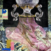 Rococo Nightmare, 2O12, collage, mixed media on paper, 11.25 x 8.75 inches