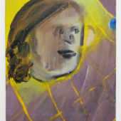 Ryota Nojima, Marble and face, 2012, oil on canvas, 10.7 x 8.6 inch