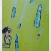 Ryota Nojima, earth, 2012, oil on canvas, 7 x 5.5 inch