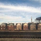 Train View (Houses), 2014-6, archival pigment print, 25