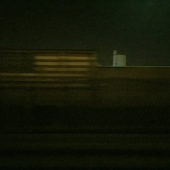 Train View (Night flag), 2014-6, archival pigment print, 25