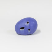 Blue skull 2019 glazed ceramic 6 x 8 x 7 inches